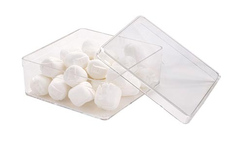 Extra Small Square Clear Container