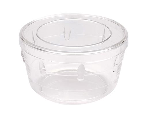 Extra Small Round Decorative Crystal Clear Container