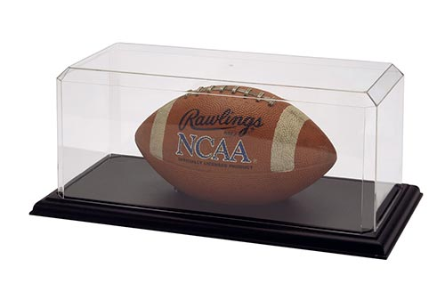 Football Display Case w/ Black Base