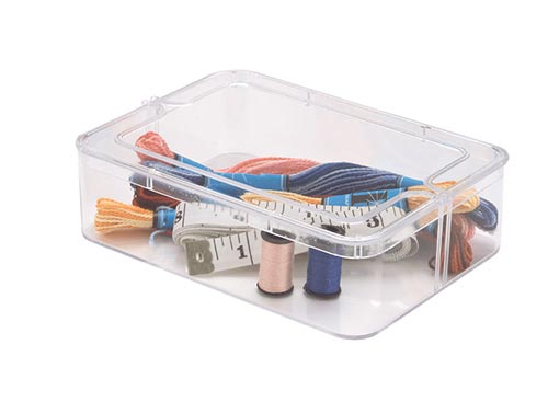 Small Rectangle Clear Plastic Box