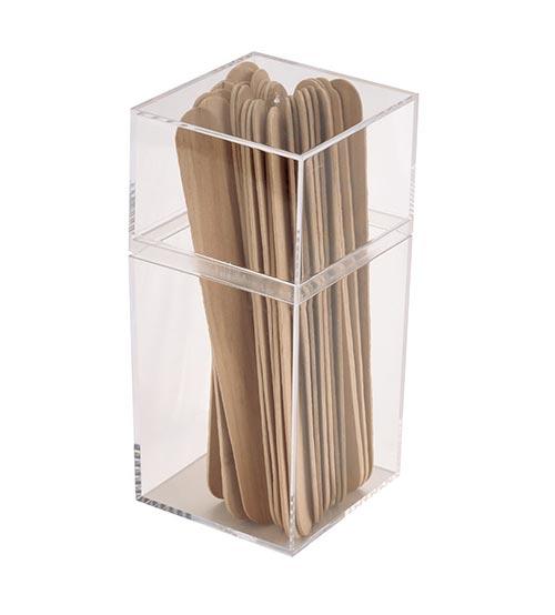 Tall Square Clear Plastic Box