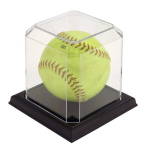 Softball Display Case w/ Black Base