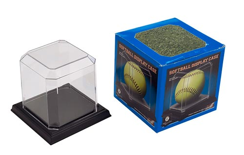Softball Display Case w/ Black Base