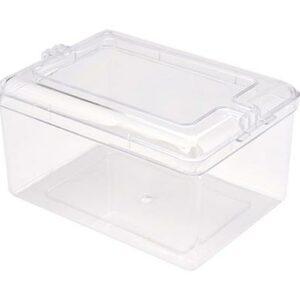Square Container Plastic with Decorative Lid
