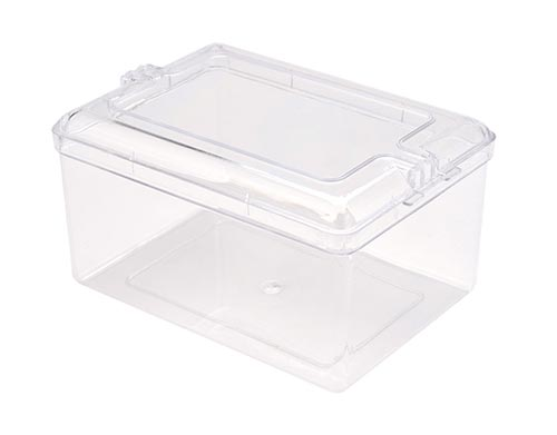 Square Container Plastic with Decorative Lid