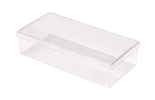 Square Plastic Container with Overfit Lid