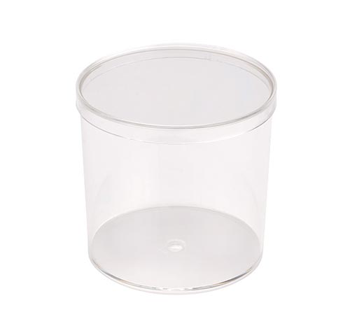 Plastic Clear Cylinder Container