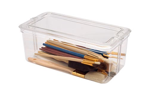Clear Square Plastic Container