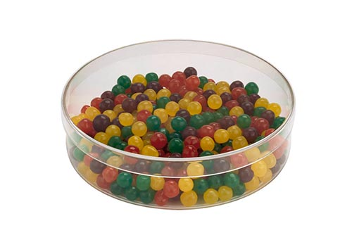 Round Plastic Candy Container with Lid