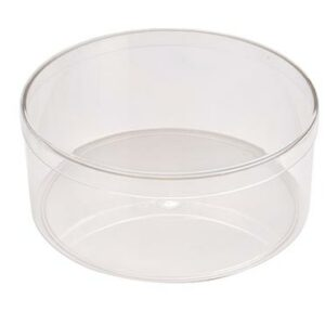 Round Clear Plastic Candy Container