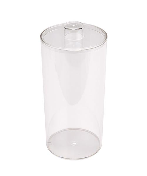Round Clear Plastic Container with Lid
