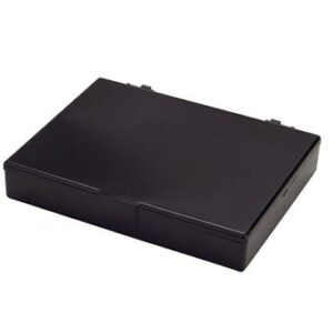 Square Colored Plastic Box Hinged Lid