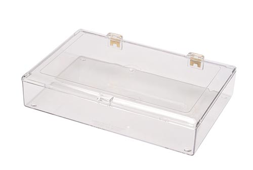 Square Clear Plastic Hinged Boxes