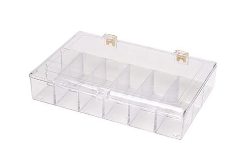 Square Hinged Divided Plastic Container