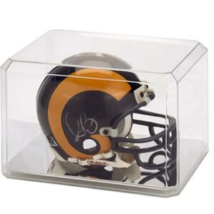 Mini Helmet Display Case Mirrored Bottom