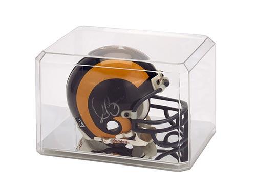 Mini Helmet Display Case Mirrored Bottom