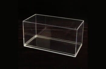 Square Clear Plastic Container, 7 13/16 x 3 13/16 x 3 7/8 - 083C