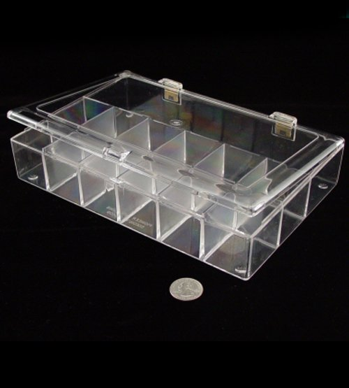 Square Divided Plastic Container